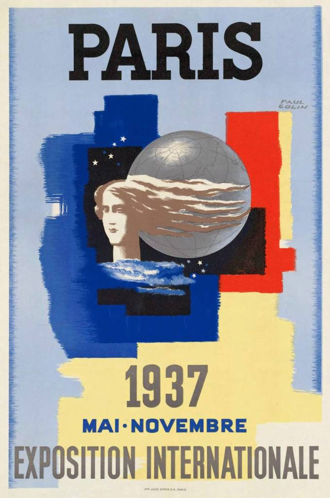 1937 Paris International Exposition poster by Paul Colin
