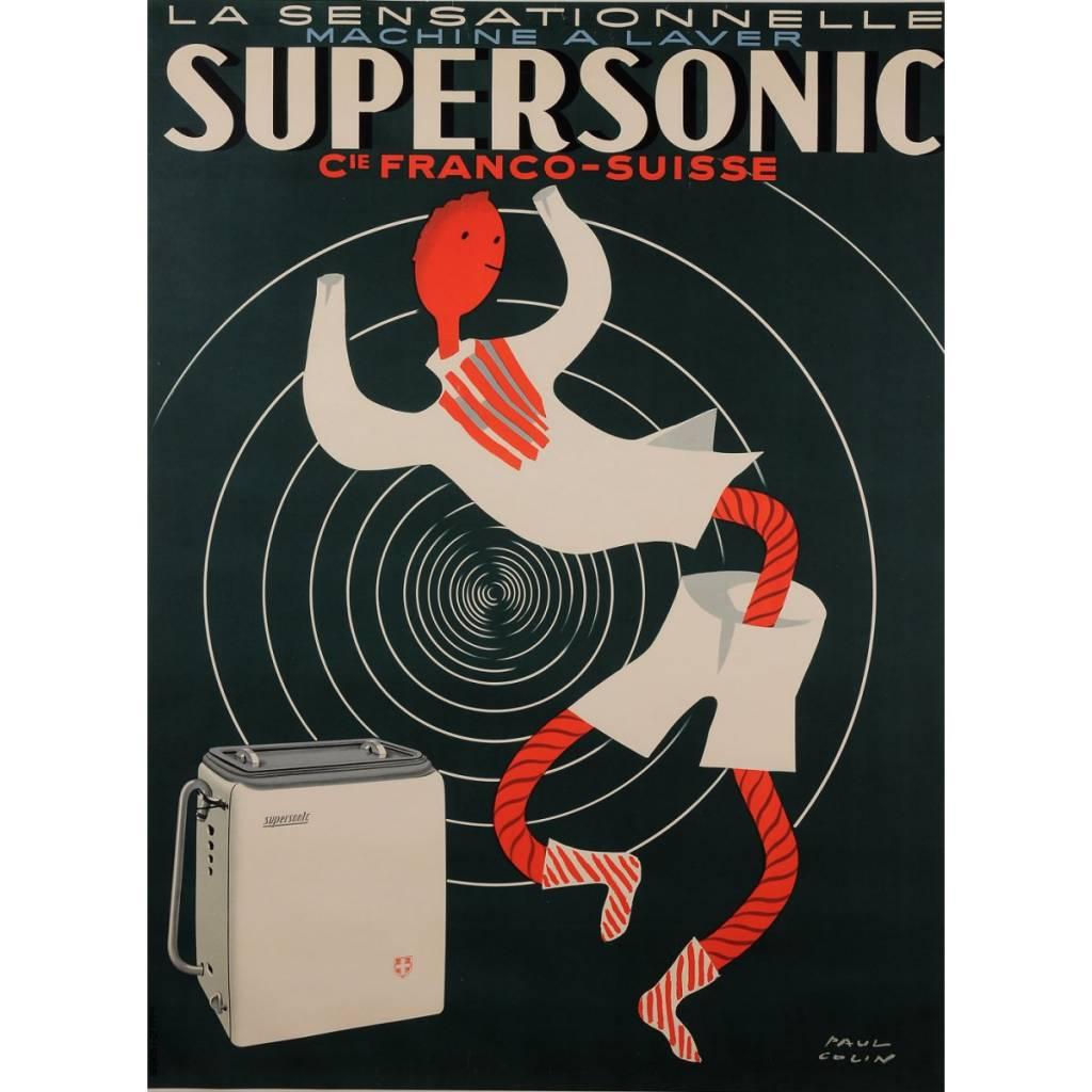 Supersonic - Machine a Laver by Paul Colin 1950s