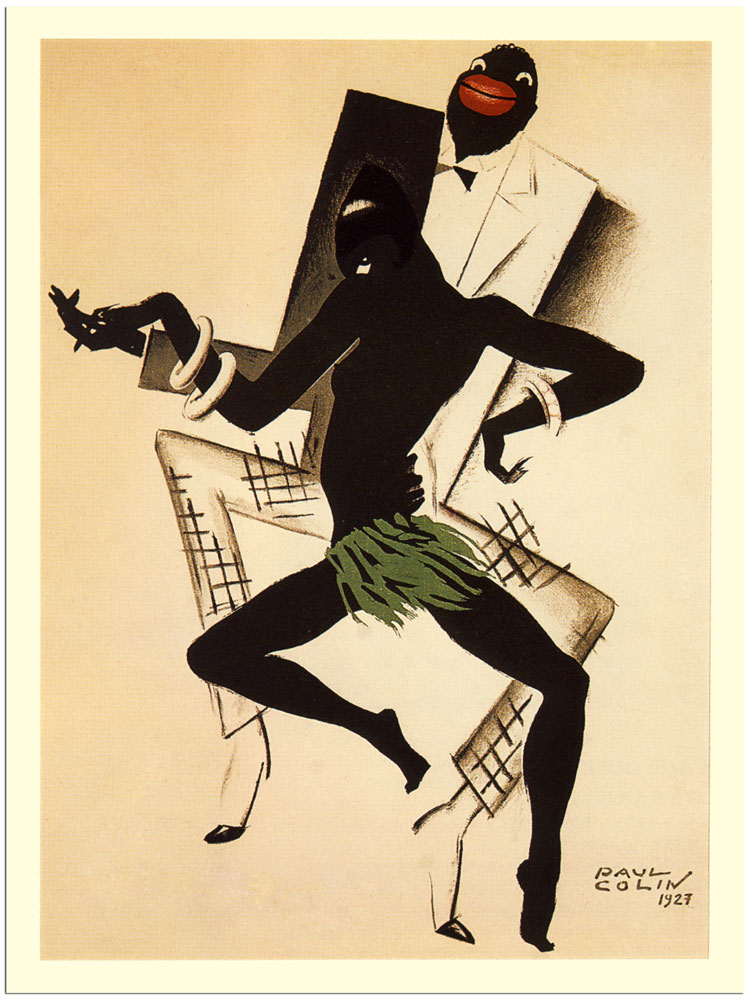 bal negre jazz art deco poster artist paul colin 1927