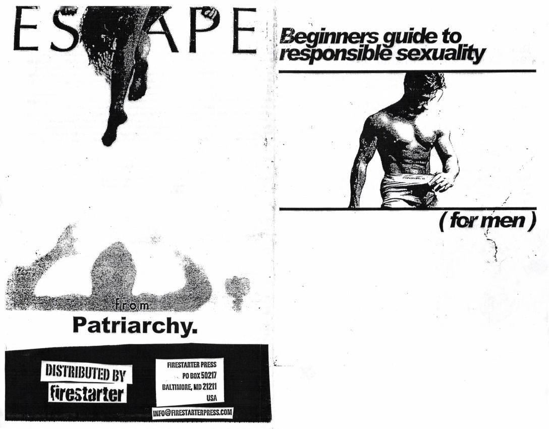 zine Beginners Guide to Responsible Sexuality (for Men)