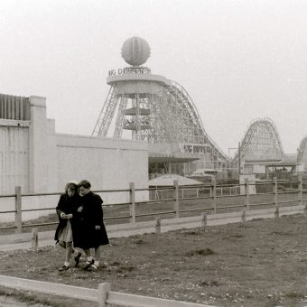 Photos of a Cold and Gloomy Blackpool in 1957