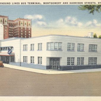 Postcards of the 'Streamline Moderne' Greyhound Terminals