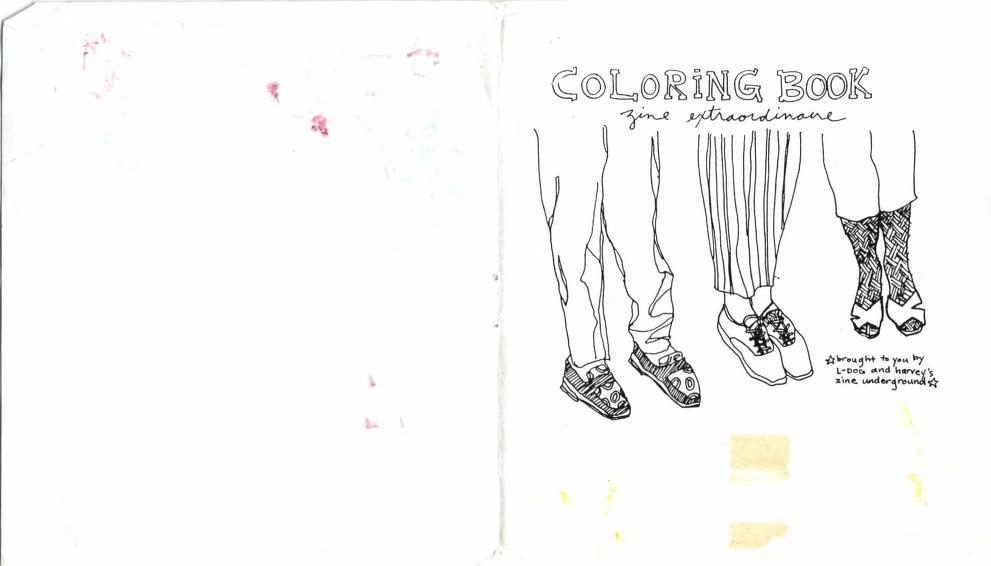 Coloring Book Zine Extraordinare