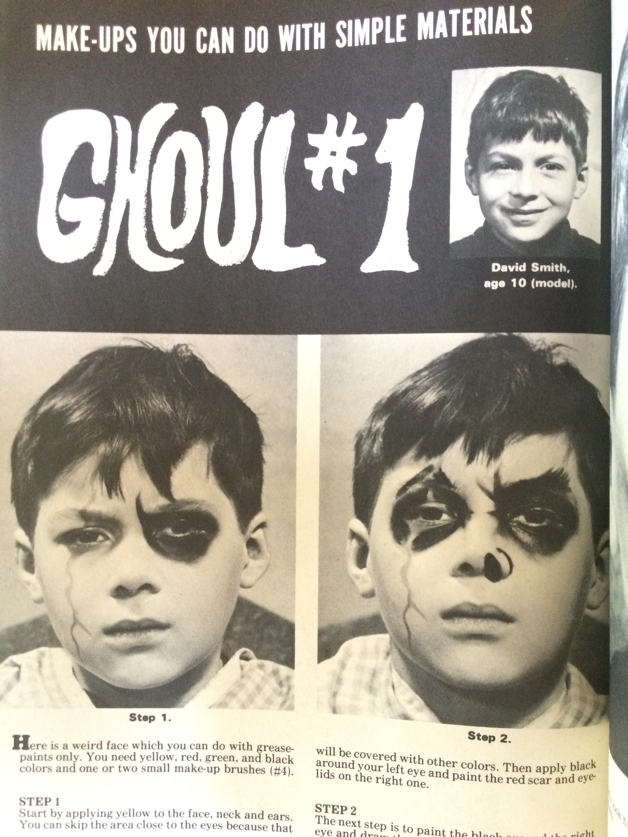Do-It-Yourself Monster Make-Up Handbook by Dick Smith (Warren Publishing, 1965)