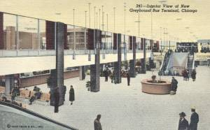 Greyhound Bus Terminal Interior - Chicago, Illinois interior mailed 1959