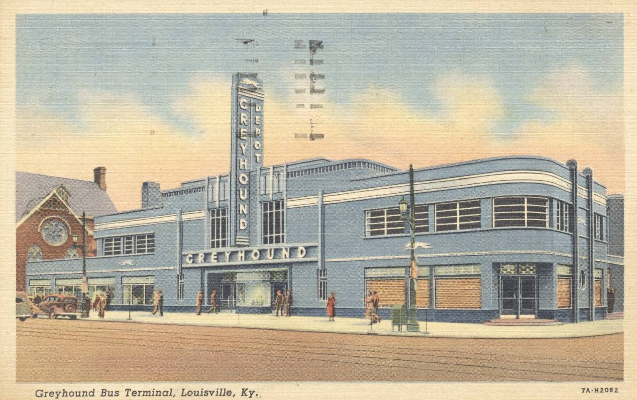 Greyhound Bus Terminal - Louisville, Kentucky mailed in 1958
