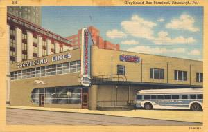 Greyhound Bus Terminal - Pittsburgh, Pennsylvania sent in 1947