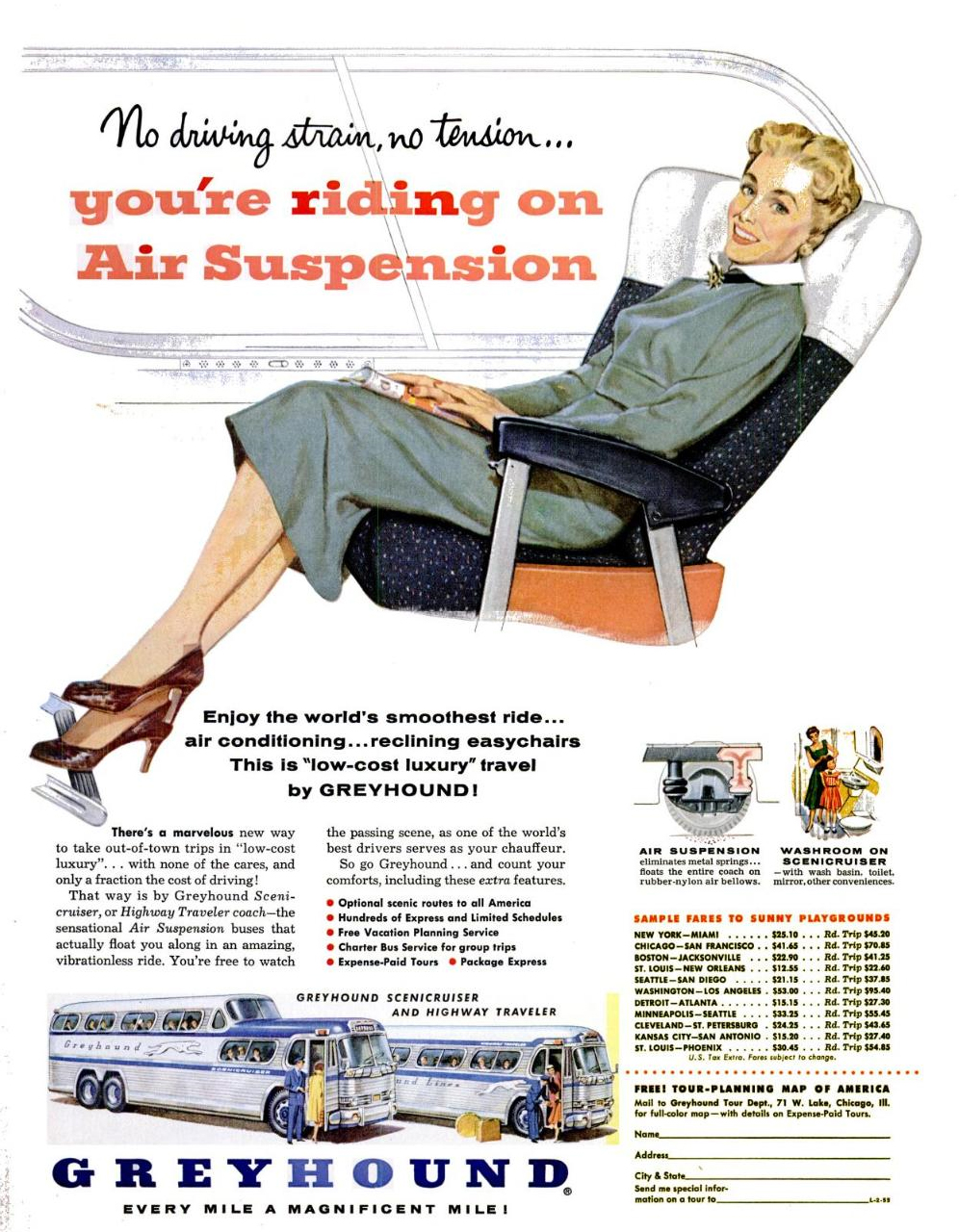 Greyhound Bus advert
