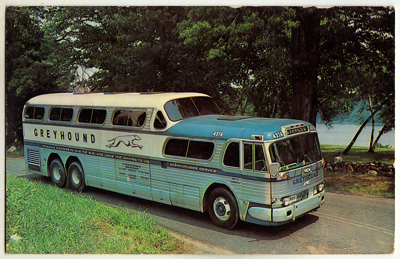 Greyhound Scenicruiser c1961 postcard