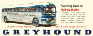 Greyhound bus ad from 1951 copy