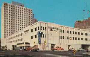 Greyhound terminal Milwaukee Wisconsin postcard sent 1968