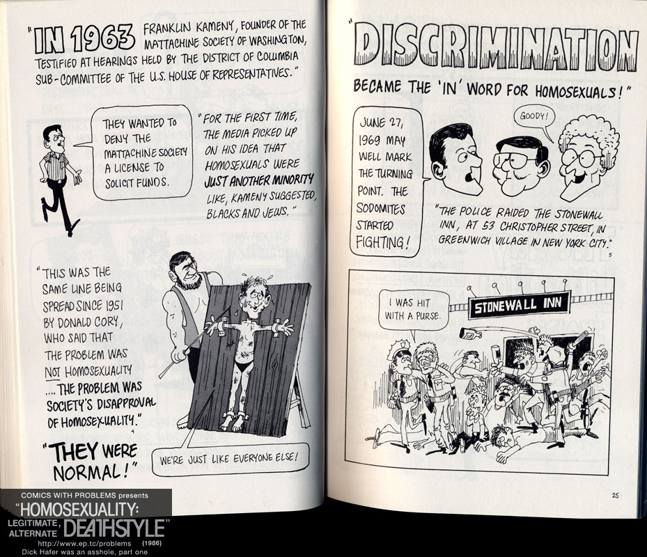 Dick Hafer 1986 gay comic sex 1986 Christian HOMOSEXUALITY LEGITIMATE ALTERNATE DEATHSTYLE