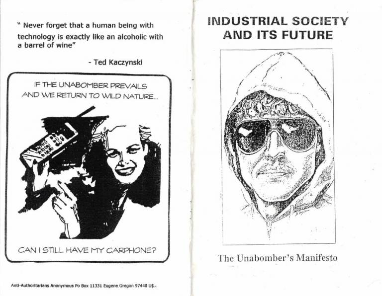 the impact of the unabombers manifesto on the world today The 1000 manifesto list is the world's best list of manifestoes and showcases all the manifestos featured on this site the unabomber manifesto woodland trust:.