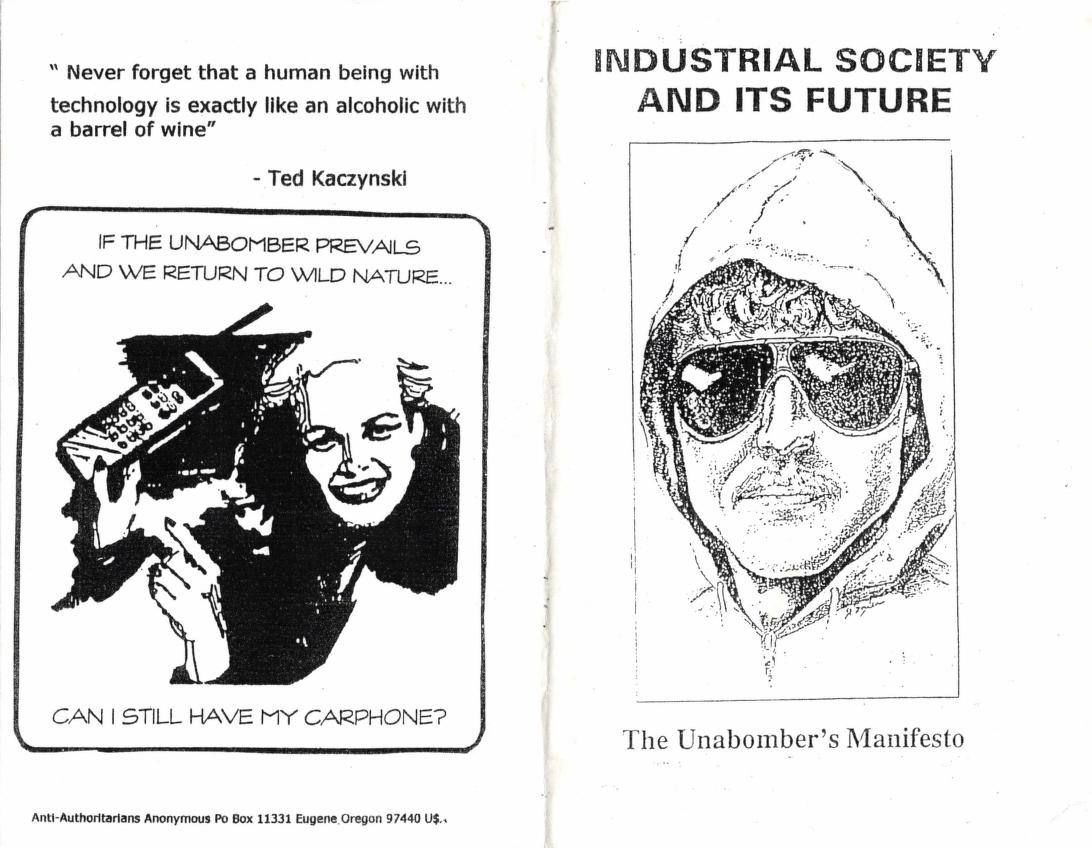 Industrial Society and Its Future - The Unabomber's Manifesto