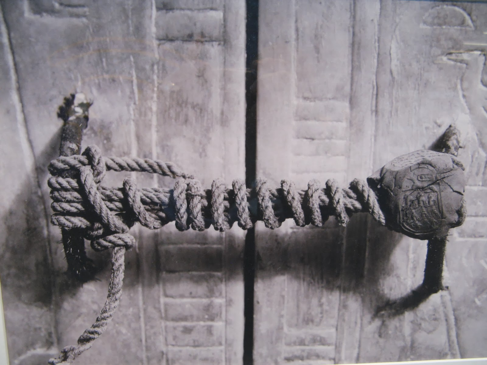The unbroken seal on King's Tut' tomb