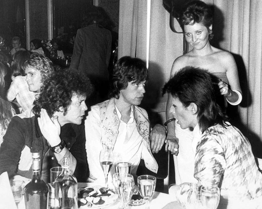 LOU REED , MICK JAGGER & DAVID BOWIE
