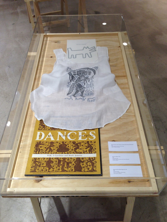 Invitation to Witches collection show, Folkways top, Dances Of The World's People. Malcolm McLaren Estate/private collection