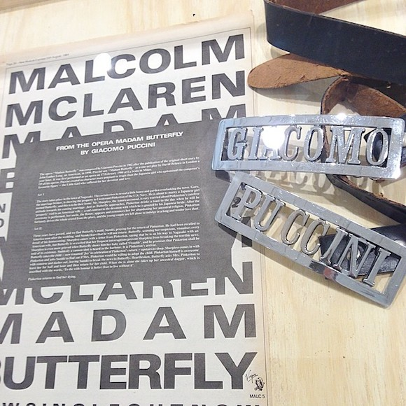 Fans belt buckles with Fans press statement. Sources: Malcolm McLaren Estate and private collection