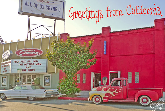 Postcard showing Mr Freedom exterior, 7161 Beverley Blvd, LA