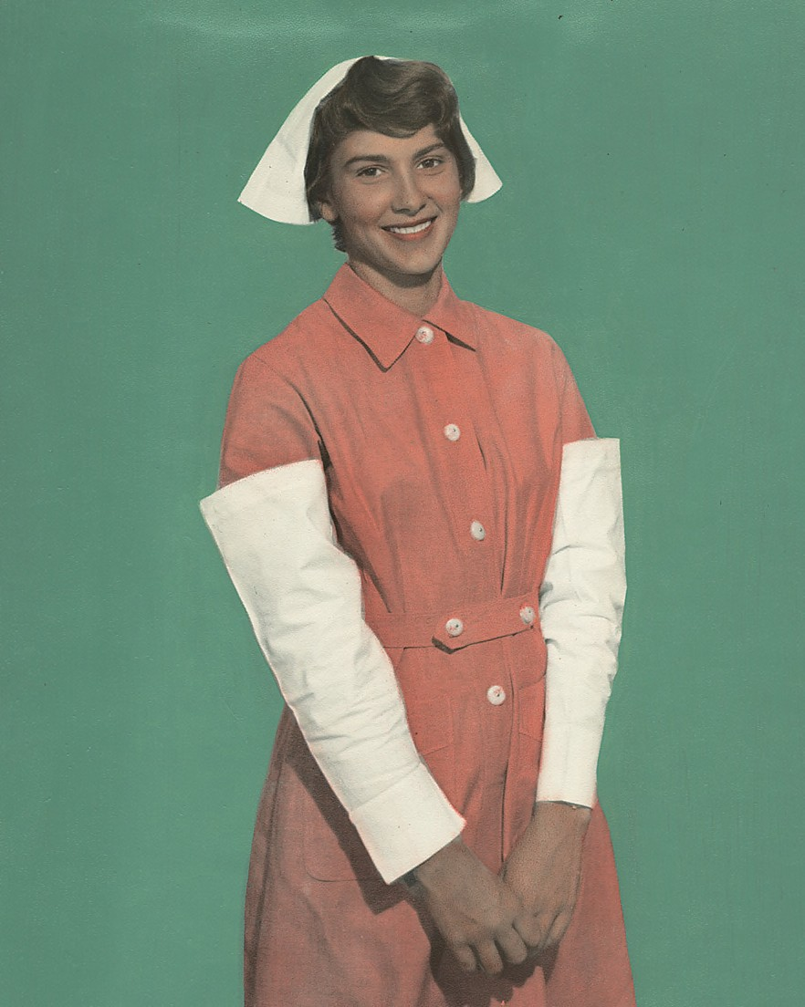 Nurse wearing uniform from Hong Kong