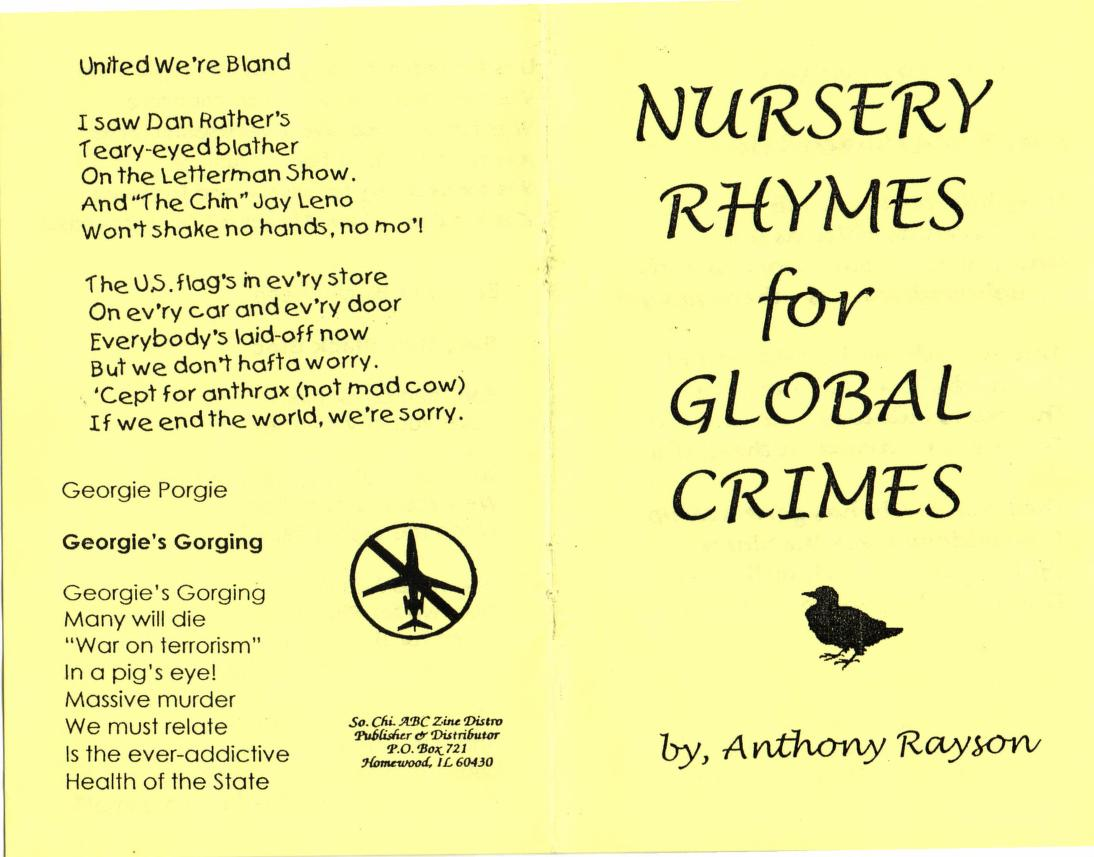 Nursery Rhymes for Global Crimes