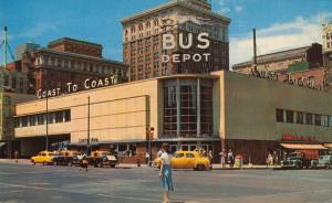Overland Greyhound Bus Depot - Omaha, Nebraska c.1954
