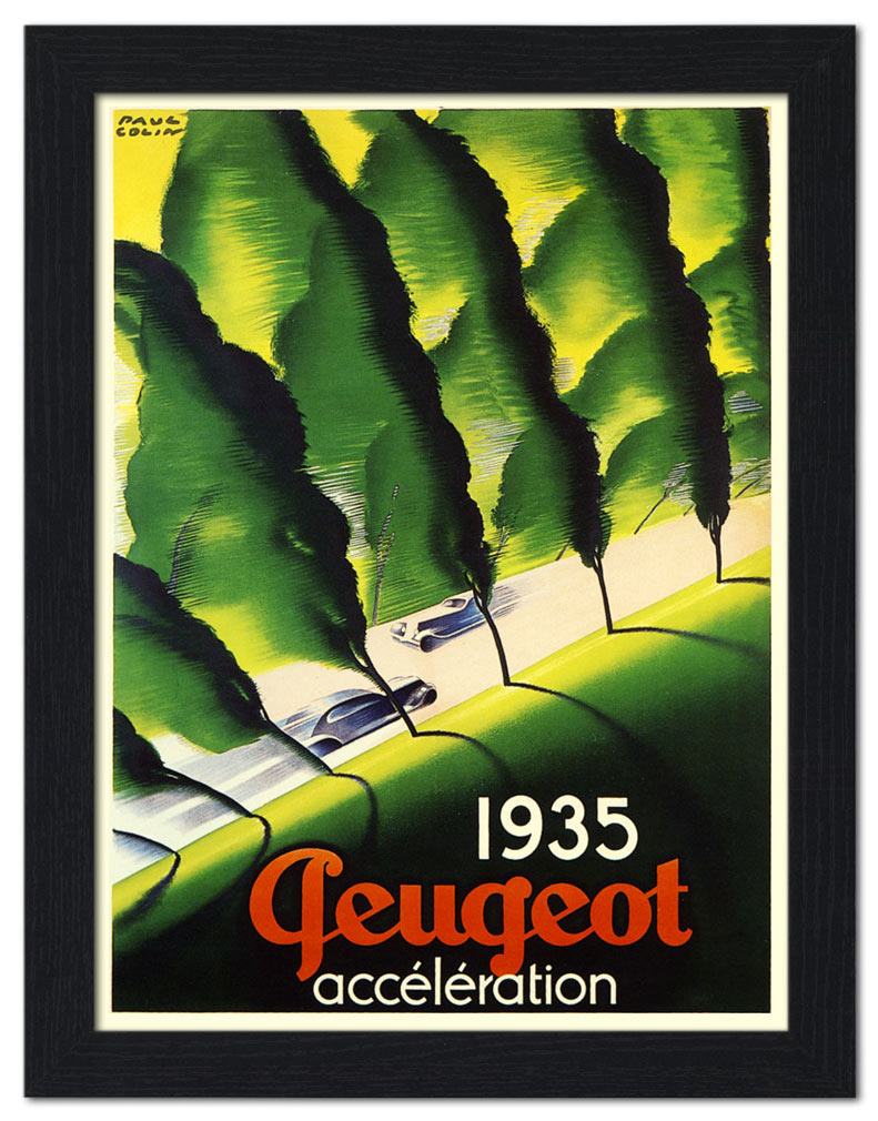 Peugeot, Automobile Poster, Artist- Paul Colin, 1935