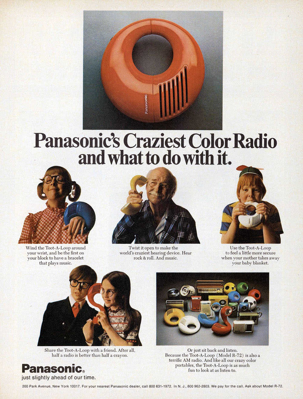 color radio advert
