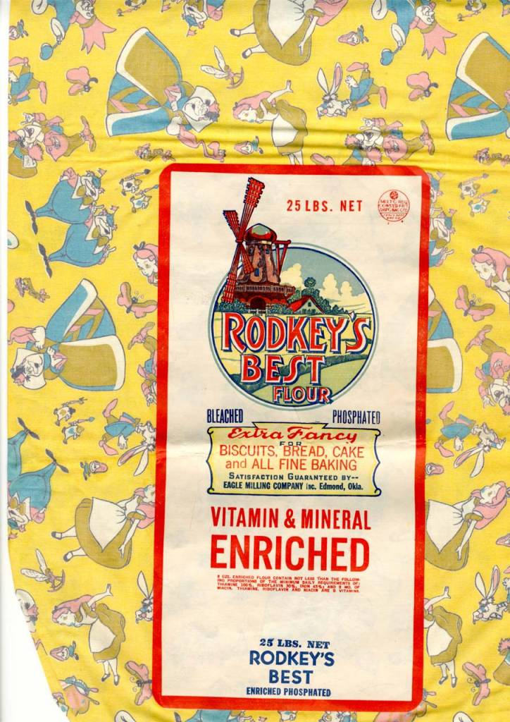 Alice in Wonderland feed sack