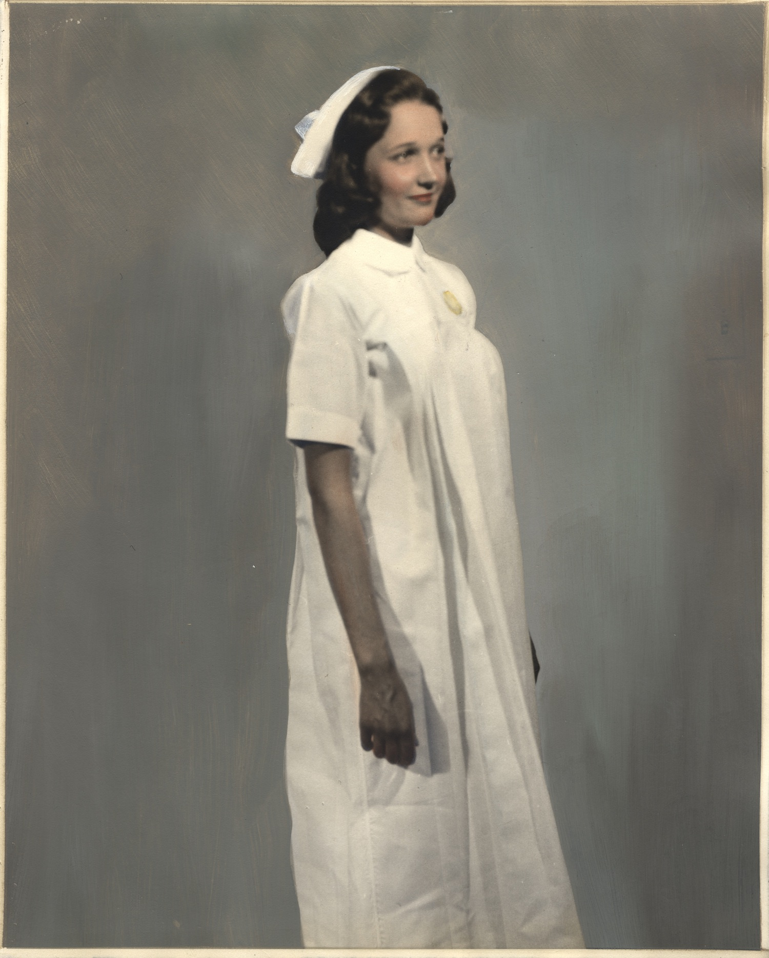 Nurse wearing uniform from Egypt