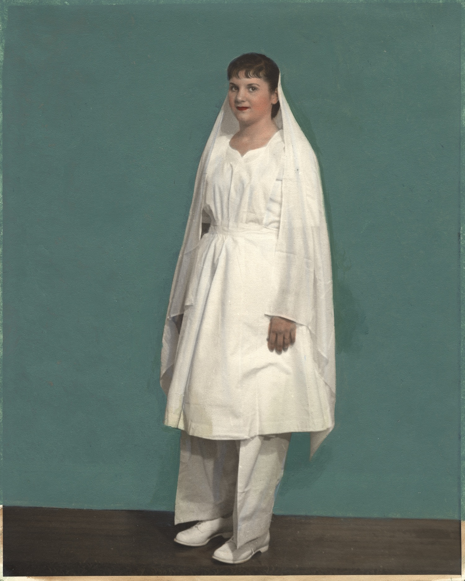 Nurse wearing uniform from India