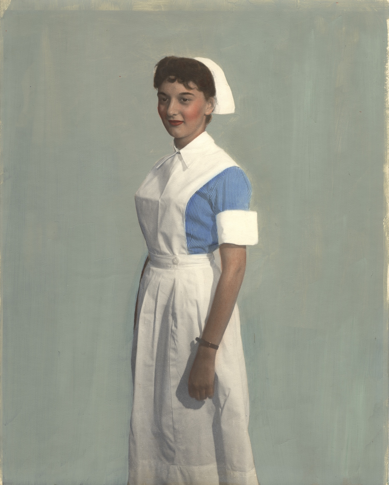 Nurse wearing uniform from Peru