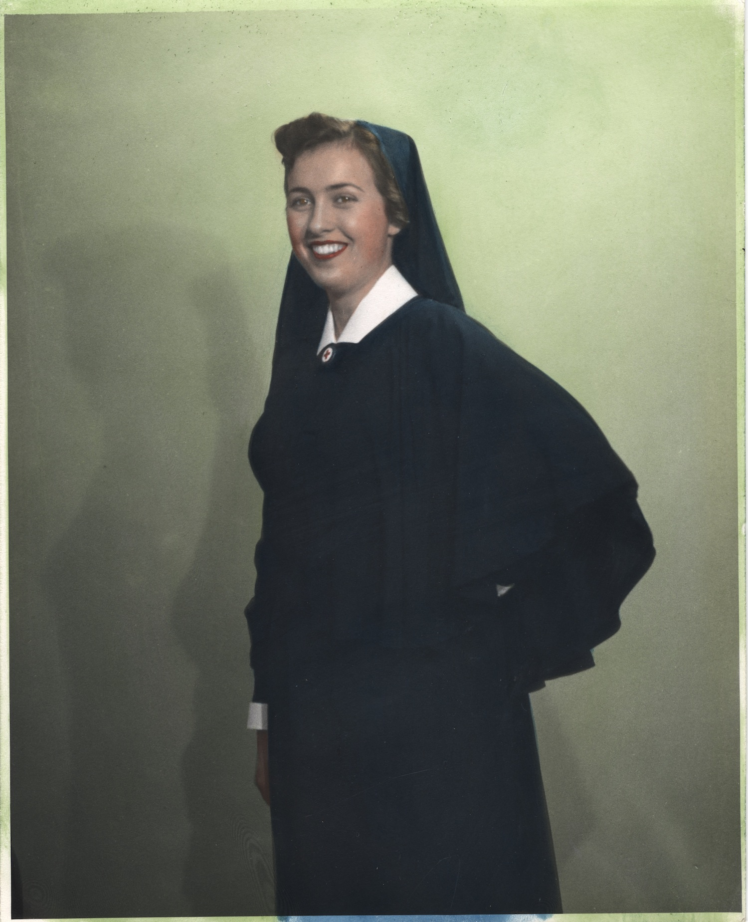 Nurse wearing uniform from Germany