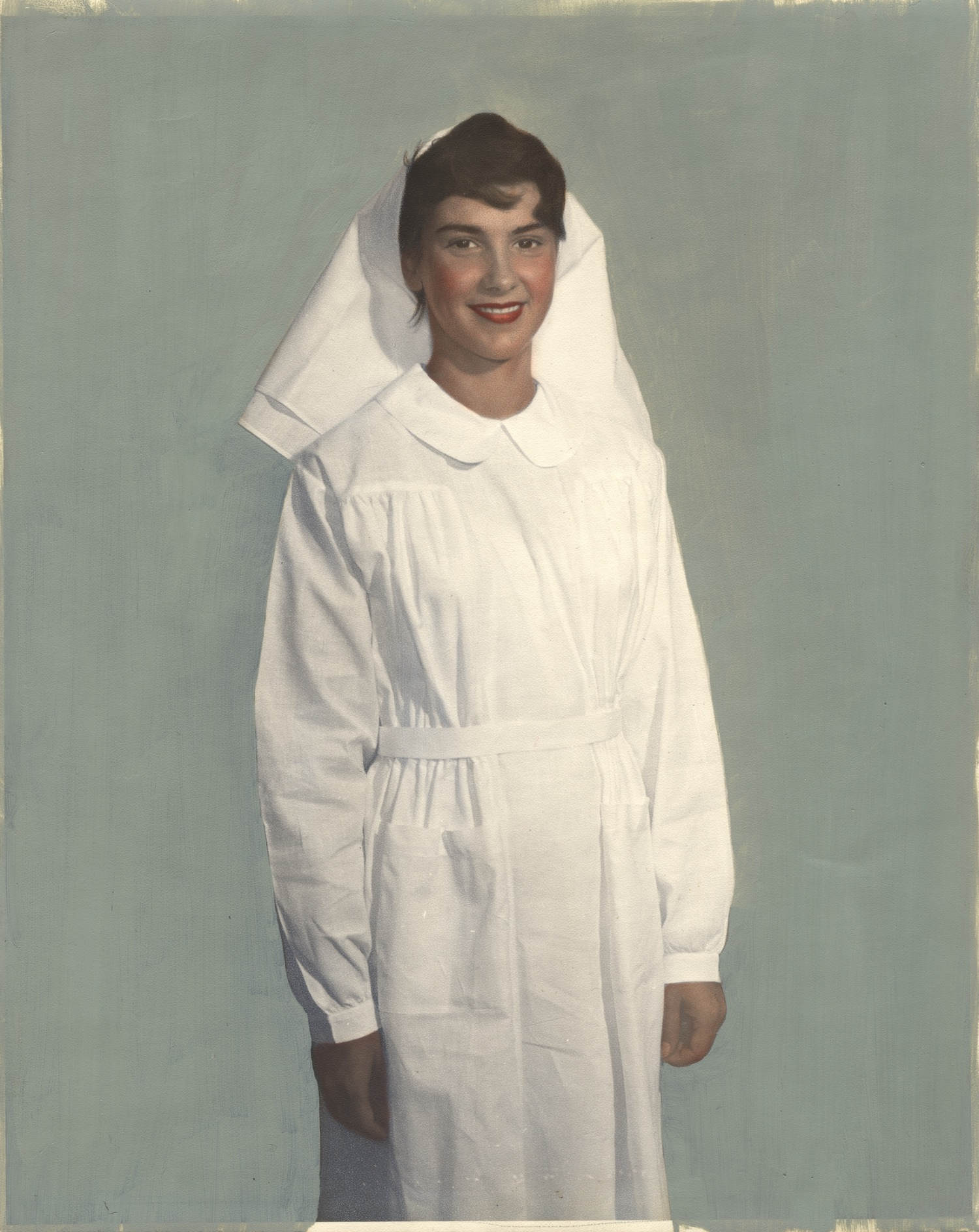 Nurse wearing uniform from France