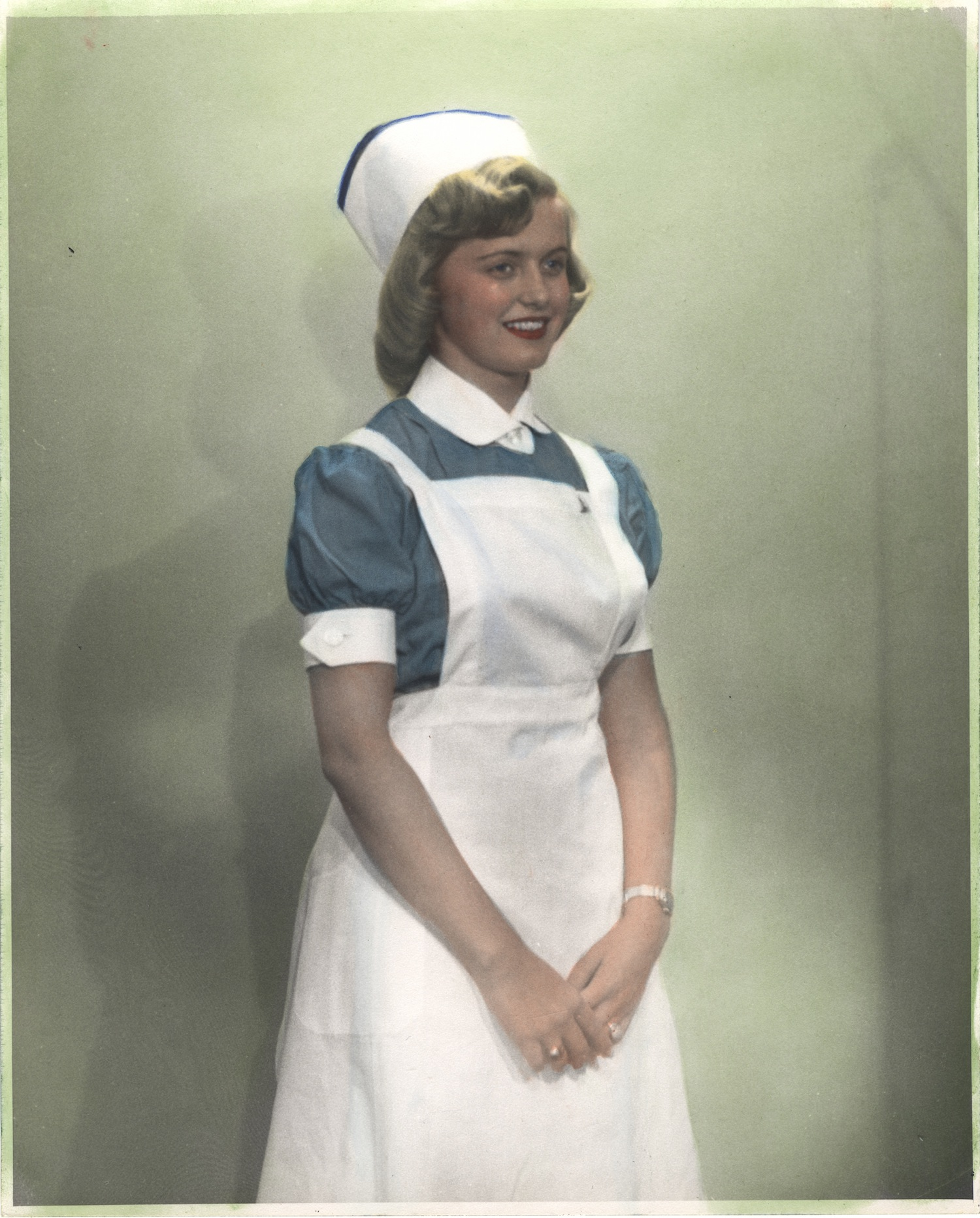 Nurse wearing uniform from Jerusalem
