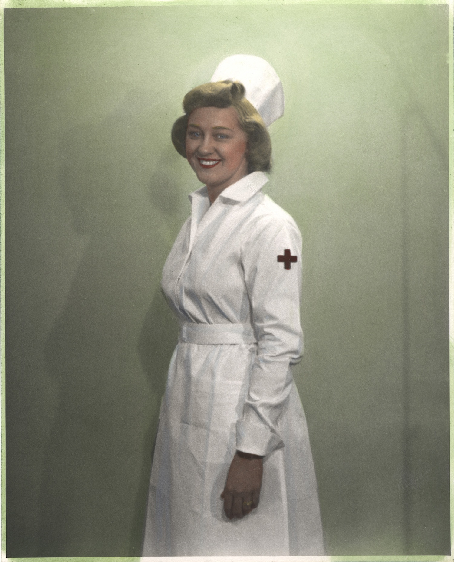 Nurse wearing uniform from Thailand