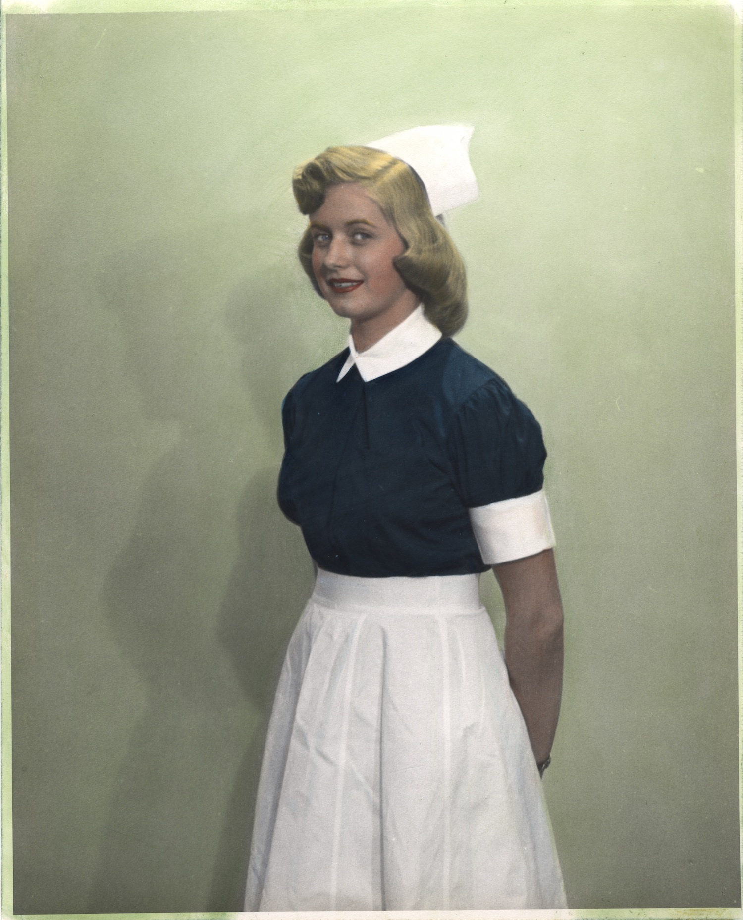Nurse wearing uniform from Lebanon