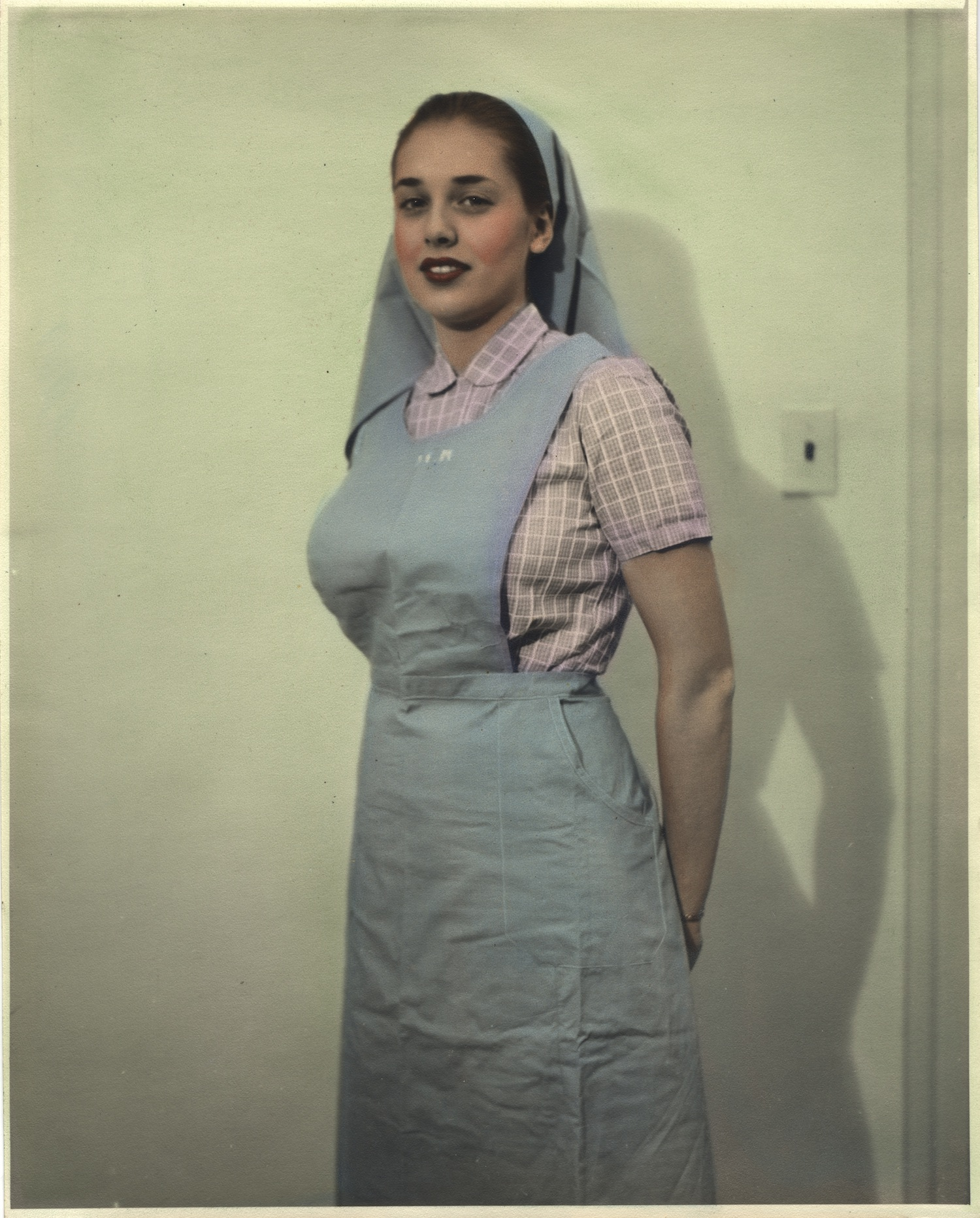 Nurse wearing uniform from Morocco
