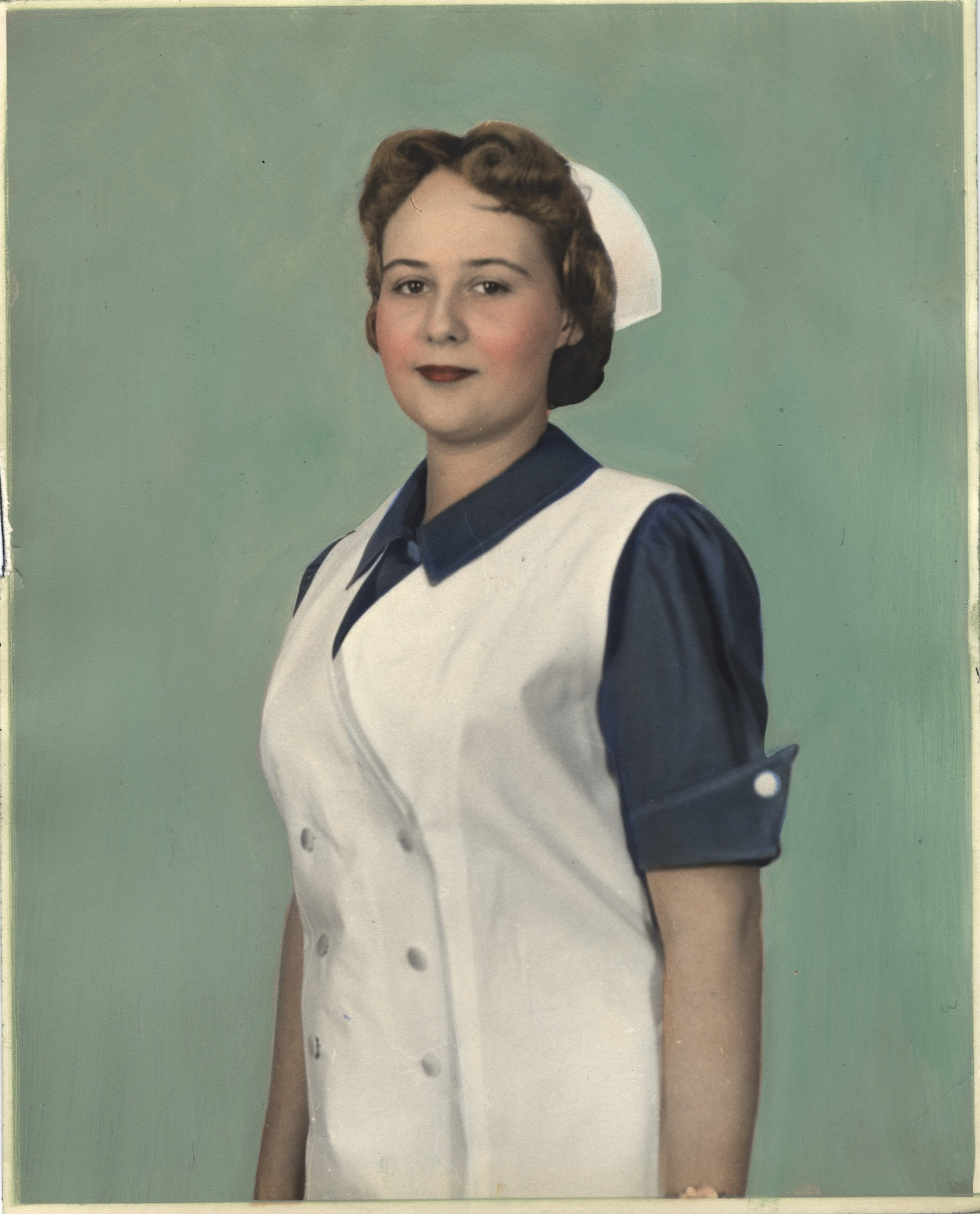 Nurse wearing uniform from Canada