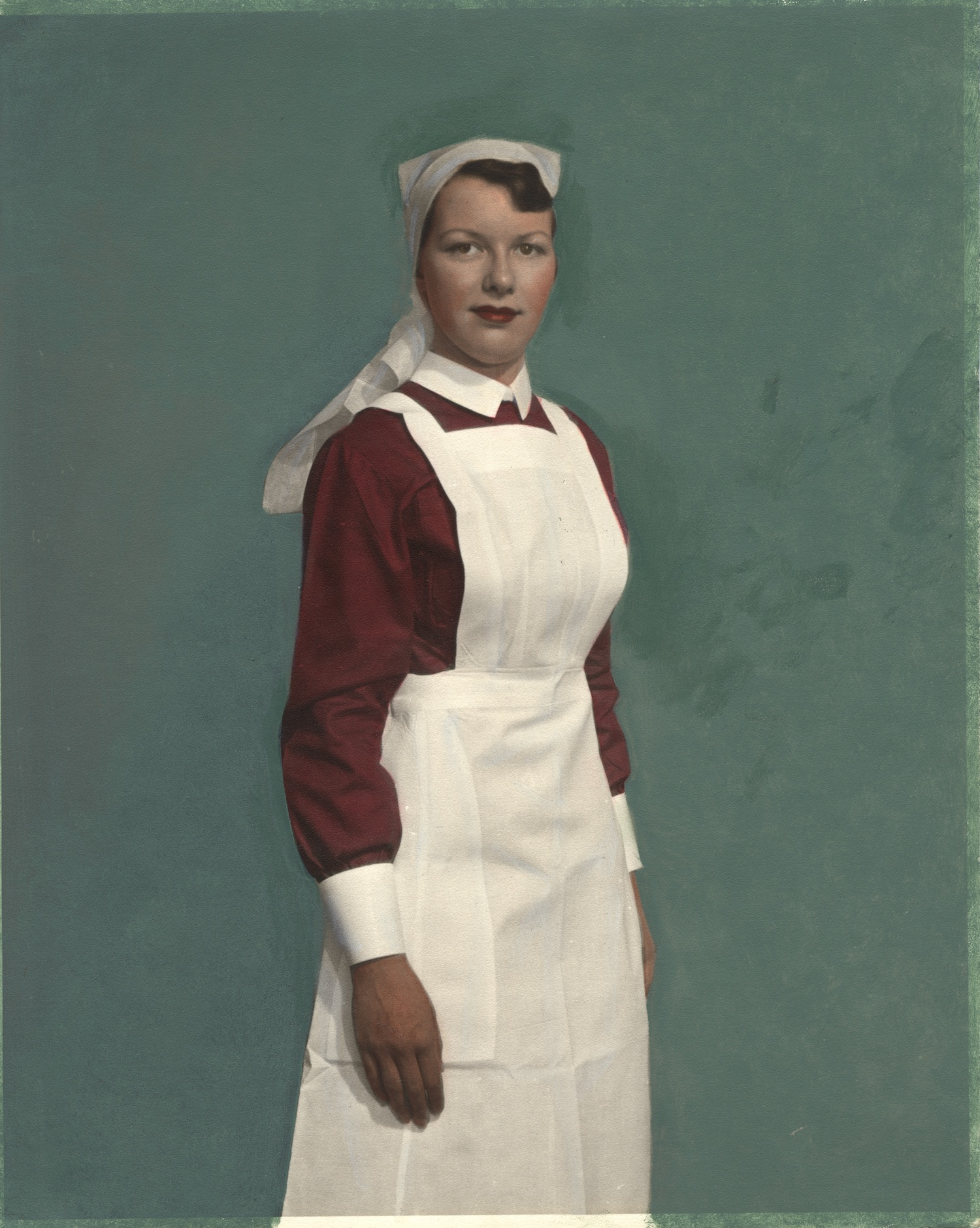 Nurse wearing uniform from Northern Ireland]
