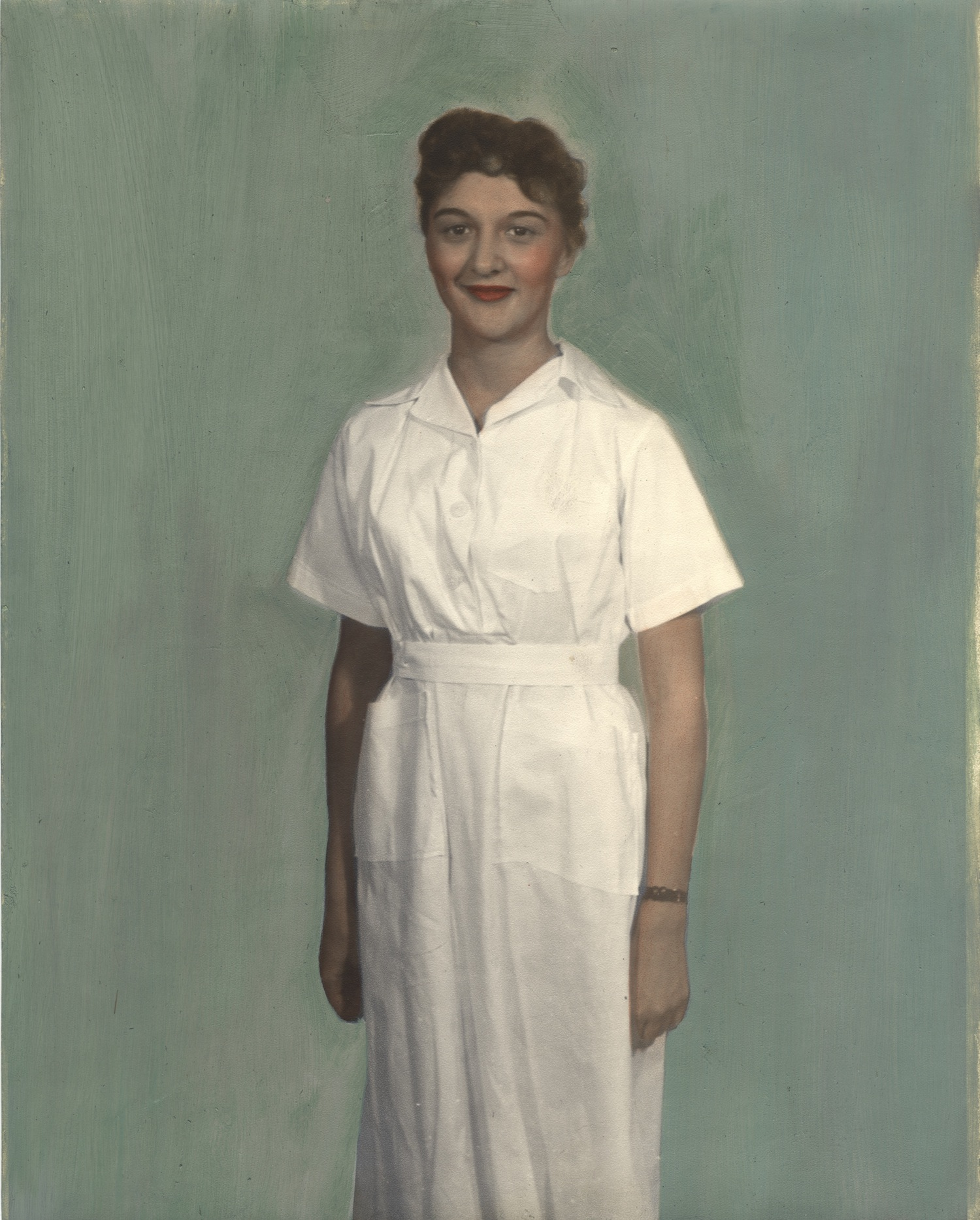 Nurse wearing uniform from Indonesia