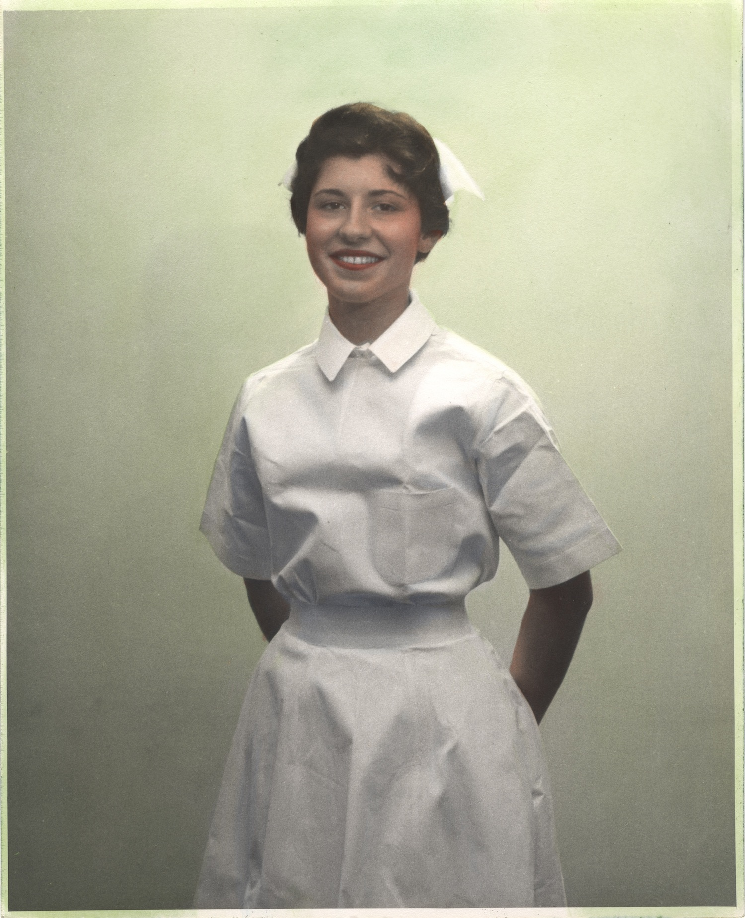Nurse wearing uniform from Tunisia
