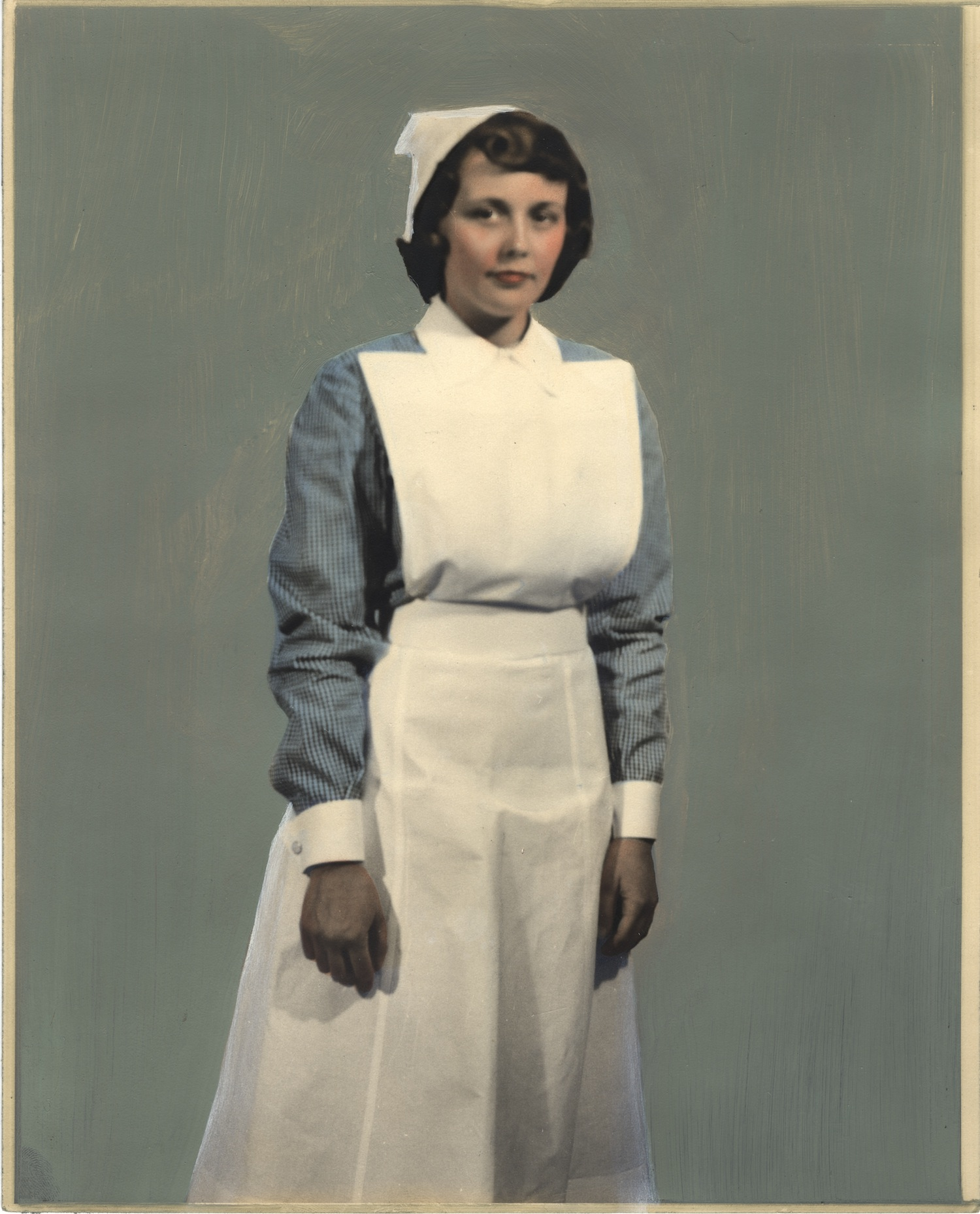Nurse wearing uniform from Scotland