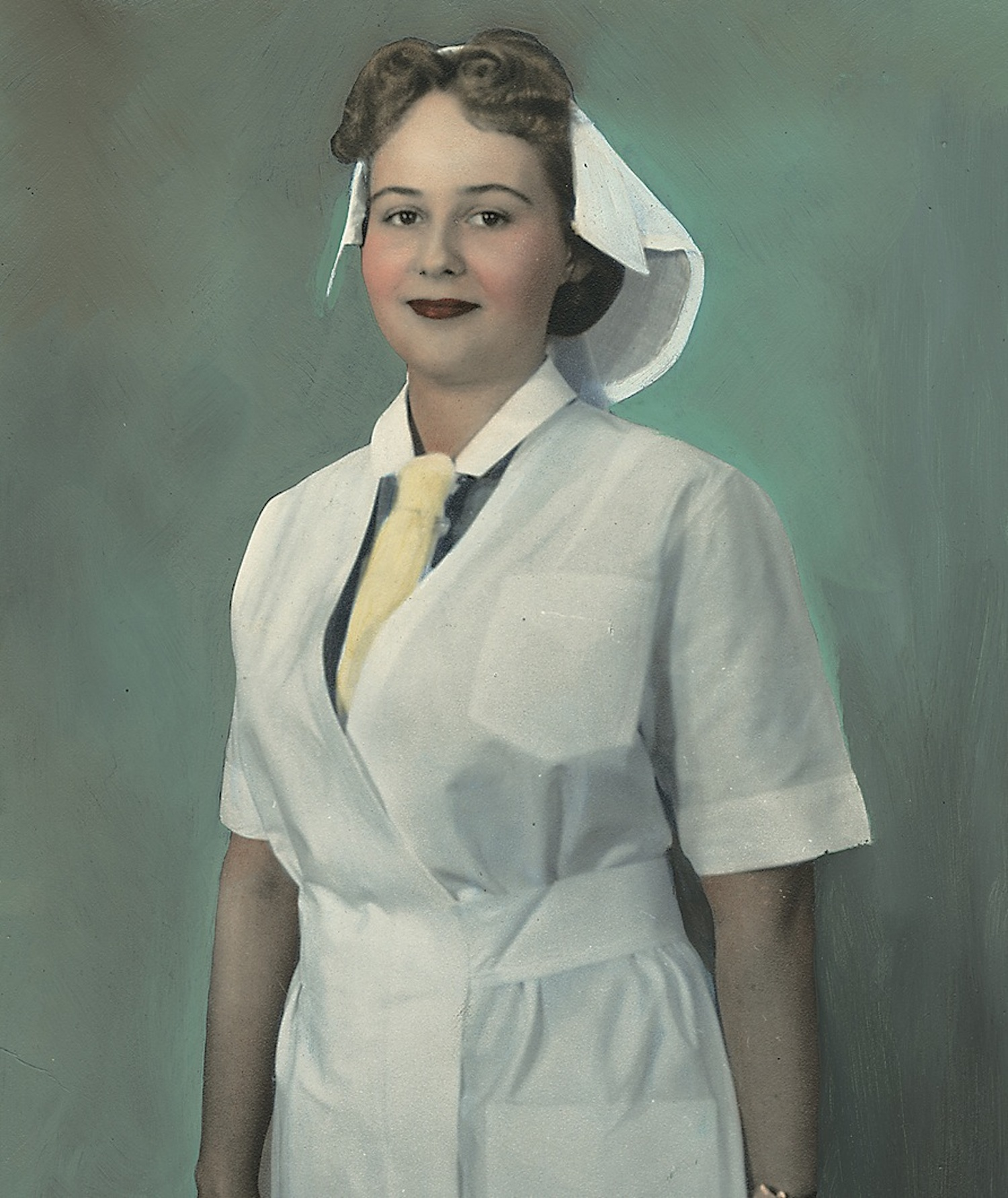 Nurse wearing uniform from Denmark