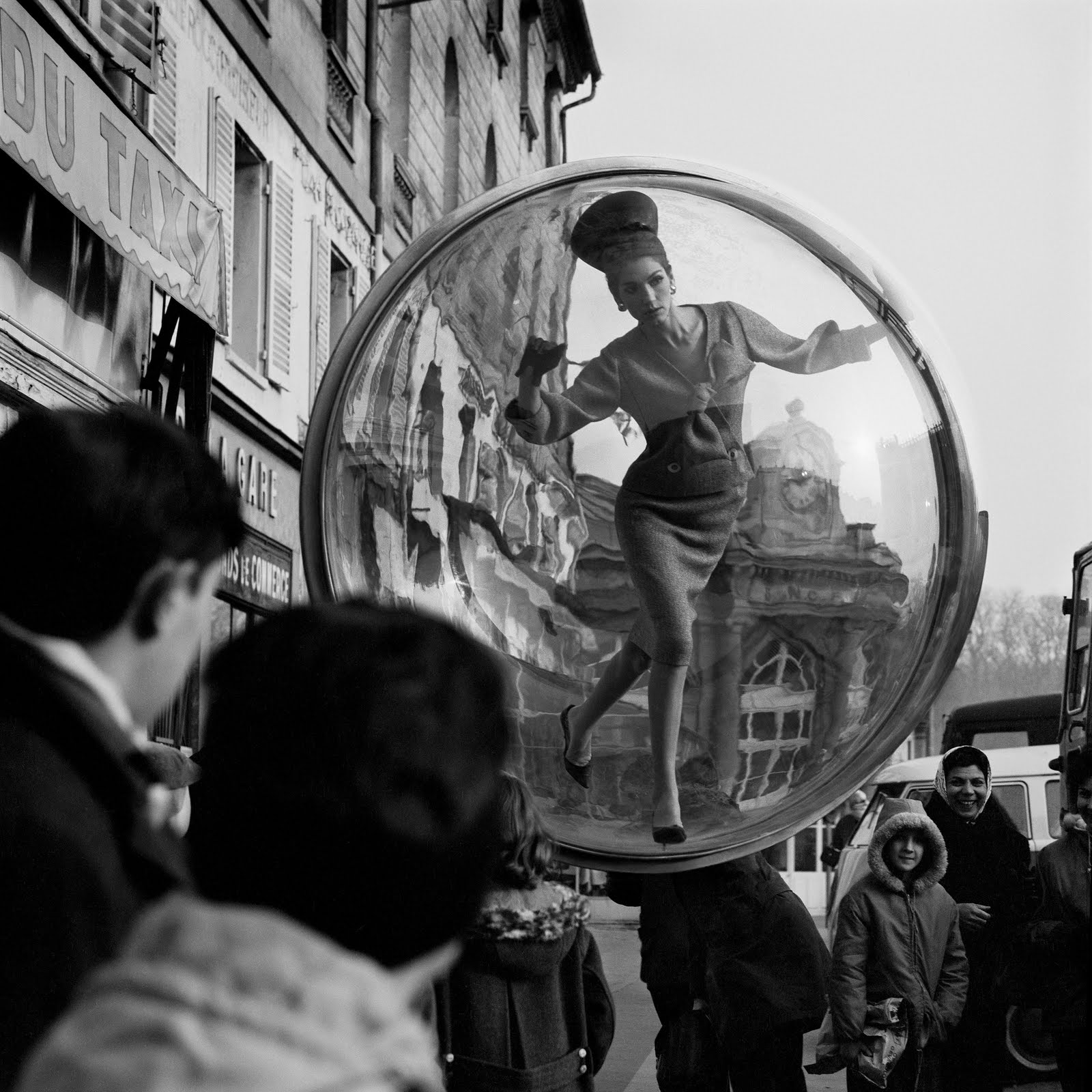 In 1963 A Model Floated From New York To Paris In A Bubble