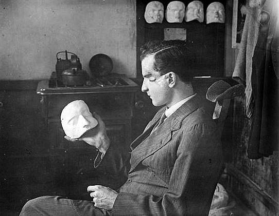 Francis Derwent Wood (1871-1926). He founded the Masks for Facial Disfigurement Department at the Third London General Hospital in Wandsworth