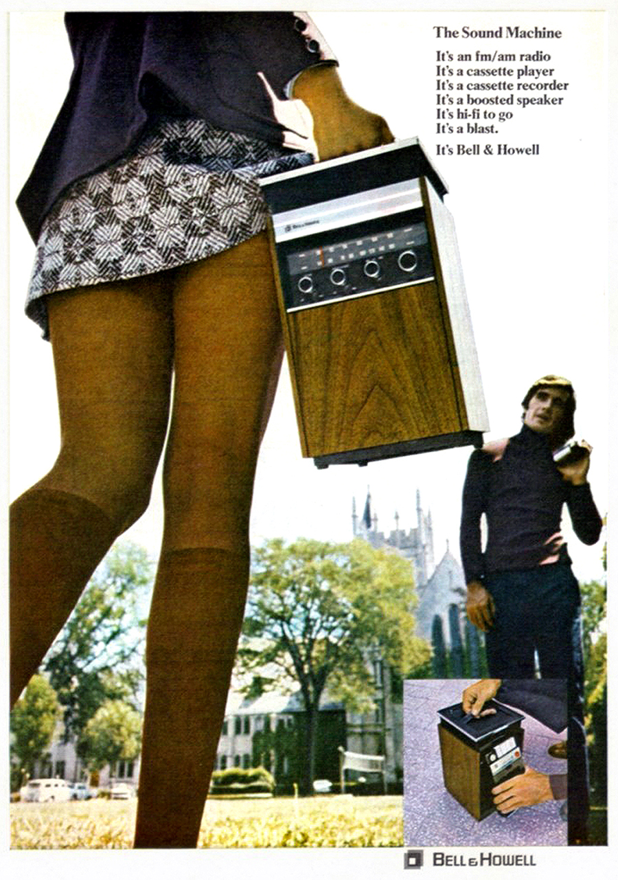 portable stereo ad vintage