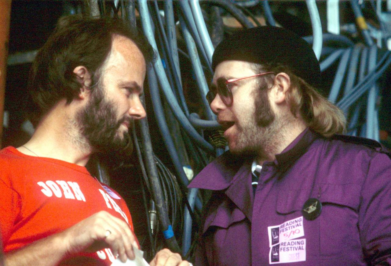 John Peel and Elton John Reading Festival 1977