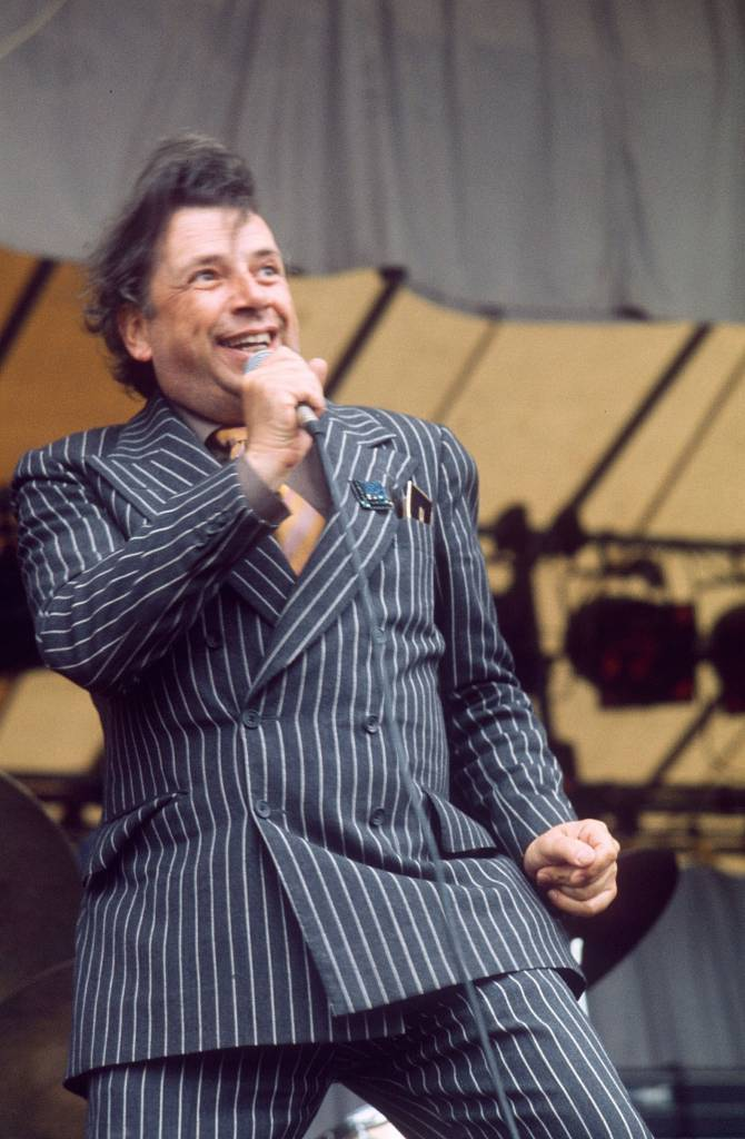 George Melly at Reading Festival 1974