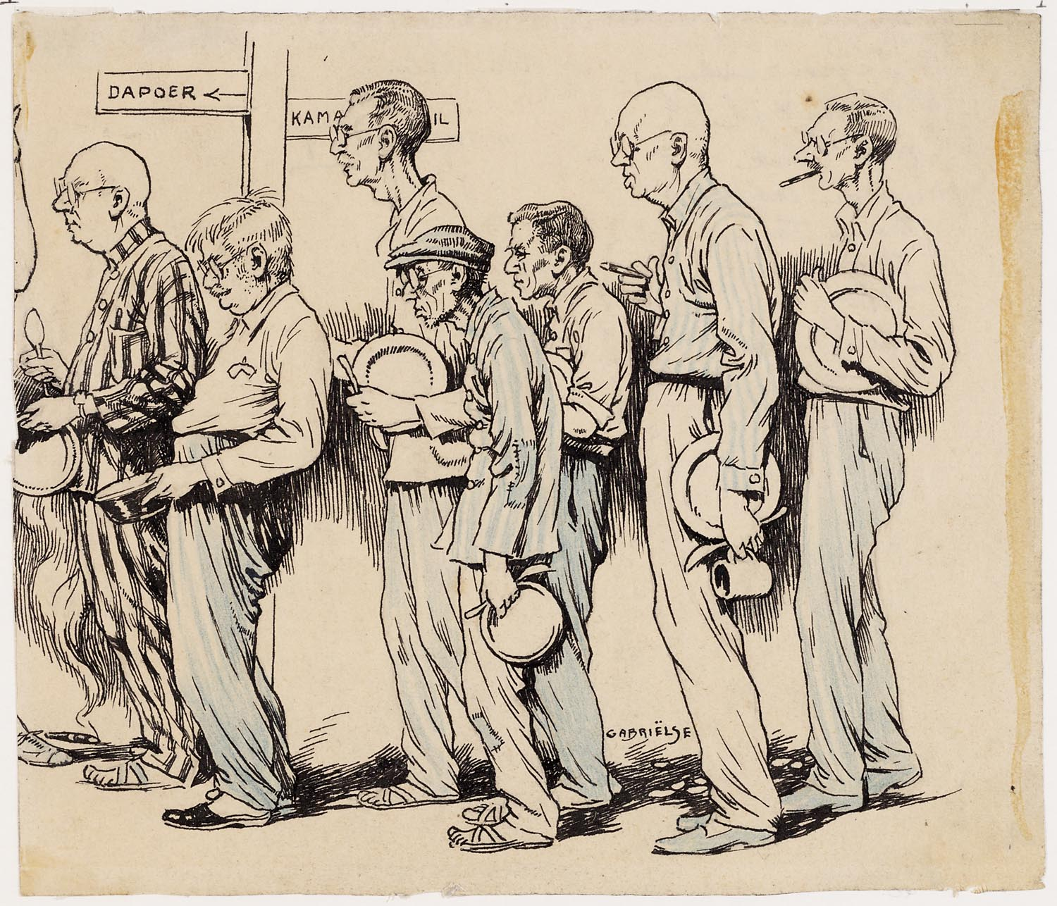 Prisoners drawings from japanese camps in the occupied for 1945 dutch east indies cuisine